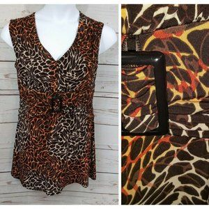 New Direction Top Ombre Animal Print Buckle
